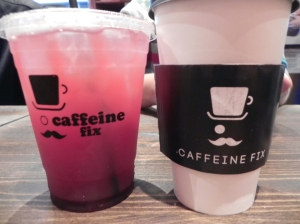 Raspberry Mojito Sm $3.75 / Med $4.35 / XL $5.15 (Pictured Medium) Green Tea Latte Sm 3.95/ Med 4.55/ Lg 4.95 (Pictured Medium)